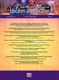Asia Pacific Journal of Educators and Education formerly known as Jurnal Pendidik dan Pendidikan