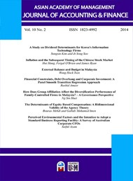 Asian Academy of Management Journal of Accounting and Finance